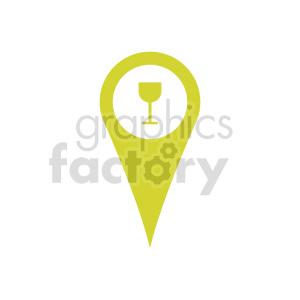 clipart - wine gps marker icon vector clipart.