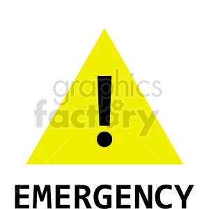 yellow emergency sign vector clipart clipart. Commercial use image # 415501