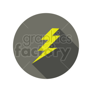 lightning icon vector clipart clipart. Commercial use image # 415510