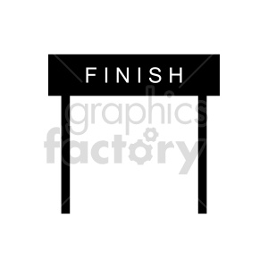 finish sign vector clipart clipart. Commercial use image # 415527