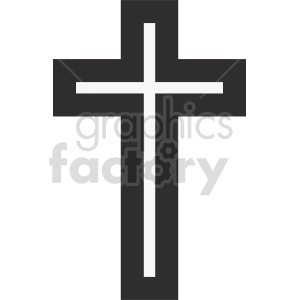 cross outline vector graphic clipart. Commercial use image # 415549
