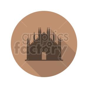 Duomo di Milano icon design clipart. Commercial use image # 415628