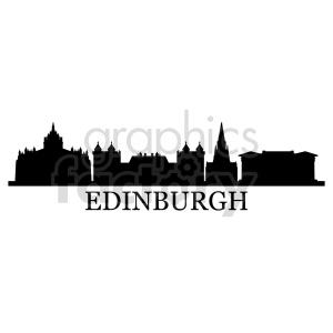 clipart - Edinburgh Scotland city skyline vector.