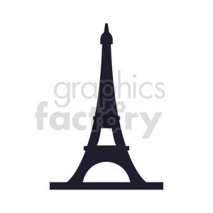 Eiffel Tower Paris France silhouette vector