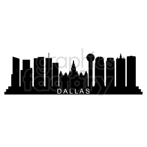 Dallas city skyline vector clipart. Commercial use image # 415679