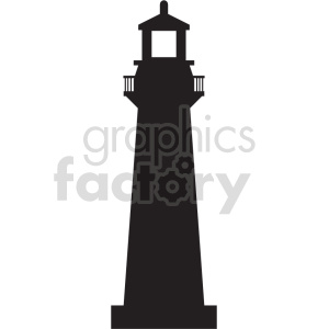 lighthouse silhouette vector graphic clipart. Commercial use image # 415692