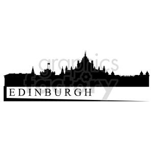 clipart - Edinburgh Scotland city skyline vector clipart.