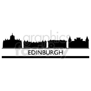 clipart - Edinburgh Scotland city skyline vector design.