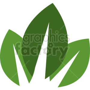 three leaf vector design clipart. Commercial use image # 415765