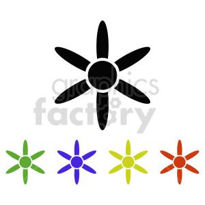 flower set vector design 3