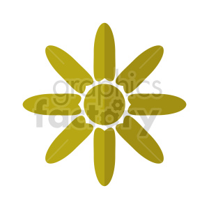 clipart - flower vector clipart design 5.