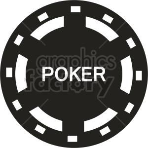 poker chip vector clipart 07 clipart. Commercial use image # 415840