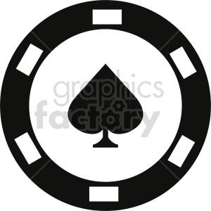 poker chip vector clipart 06 clipart. Commercial use image # 415848