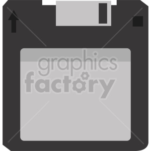 clipart - vintage floppy disk icon vector clipart.