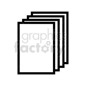 blank documents stacked vector clipart clipart. Commercial use image # 415913