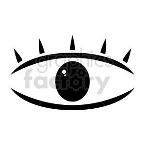cartoon vector eye symbol clipart. Commercial use image # 416001