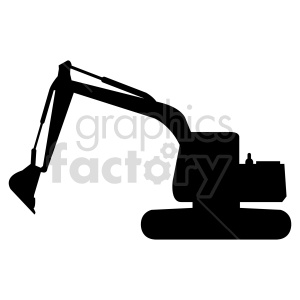 excavator silhouette vector clipart clipart. Commercial use image # 416025