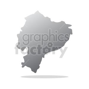 ecuador with drop shadow vector clipart clipart. Commercial use image # 416050