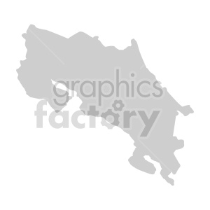 Costa Rica shape vector clipart clipart. Commercial use image # 416090