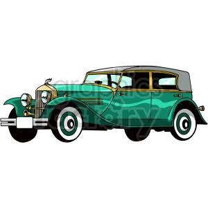 old car vector clipart