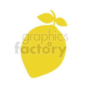 lemon shape vector design clipart. Commercial use image # 416231