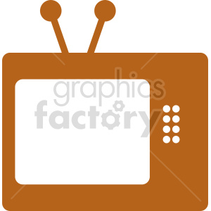 retro tv vector icon clipart. Commercial use image # 416282