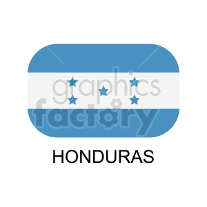 hounduras flag with label graphic clipart. Commercial use image # 416315