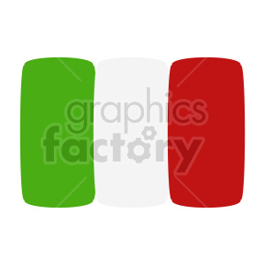 italian flag graphic clipart. Commercial use image # 416329