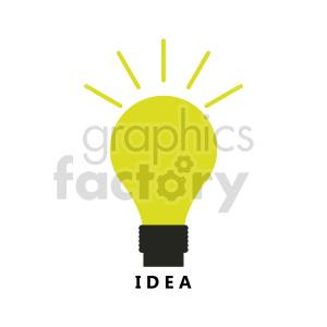 lightbulb idea vector graphic