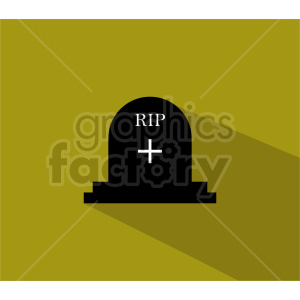 rip tombstone icon on green background clipart. Commercial use image # 416381