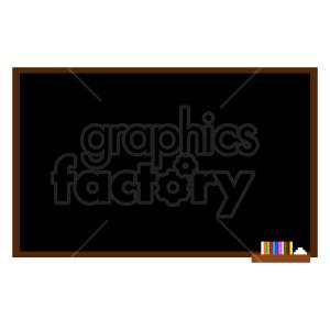 clipart - classroom chalkboard vector clipart.