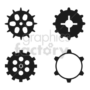 gears vector graphic clipart. Commercial use image # 416429