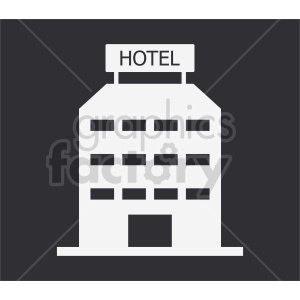 hotel on dark background vector clipart clipart. Commercial use image # 416479