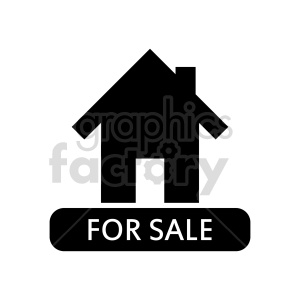 house for sale vector icon clipart. Commercial use image # 416503