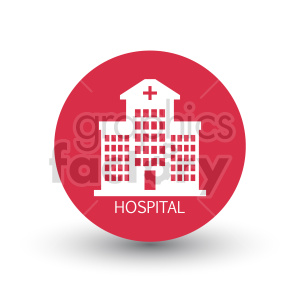 clipart - red hospital vector clipart.