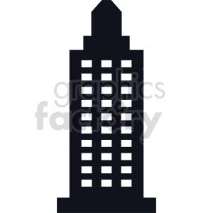 skyscraper vector icon no background clipart. Commercial use image # 416530