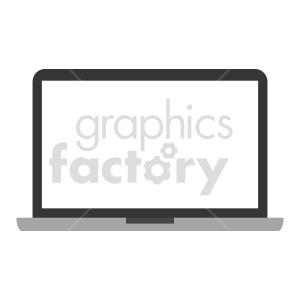 clipart - computer laptop vector graphic.