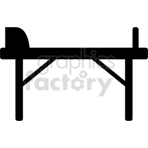 hospital bed vector icon clipart. Commercial use image # 416556