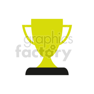 trophy vector graphic clipart. Commercial use image # 416560