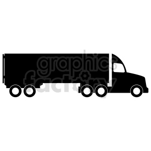 clipart - semi truck vector graphic.