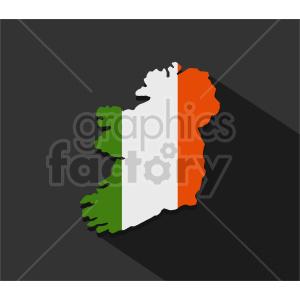 clipart - ireland flag design vector clipart.