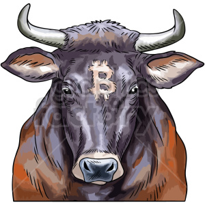 bitcoin bull vector graphic clipart. Commercial use image # 416686