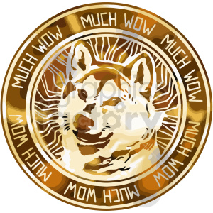 dogecoin vector clipart clipart. Commercial use image # 416688
