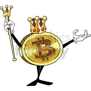 bitcoin king vector clipart
