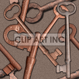 Skeleton key tiled background clipart. Royalty-free image # 128148