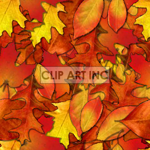 background backgrounds tiled bg leaf leafs fall nature orange yellow colorful colors seasons   101005-leaf backgrounds tiled