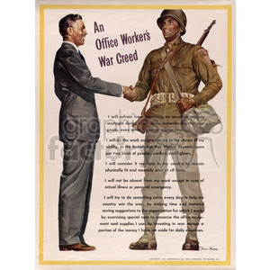 Office Workers War Creed clipart. Commercial use image # 152914