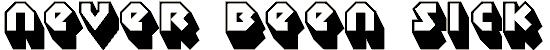 sudbury_basin_3d font. Royalty-free font # 174688