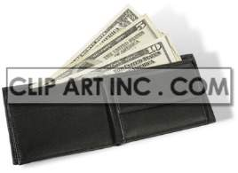 wallet with money in it clipart. Royalty-free image # 177404