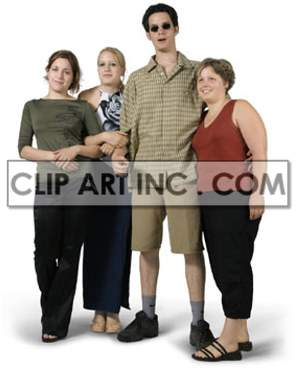 A Small Group of People Standing Together clipart. Royalty-free image # 177498